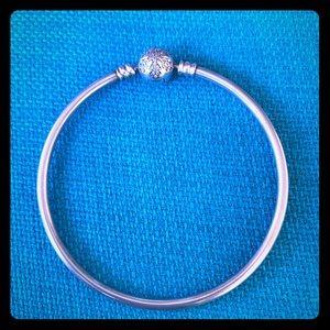 Pandora snowflake bangle bracelet